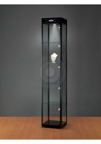 Branded glass display cabinet