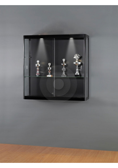 Black Wall Mounted Display Cabinet
