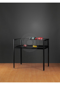 Table Black Display Cabinet
