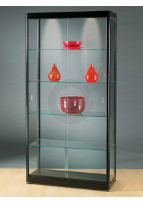Rectangular Black Display Cabinet