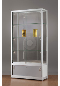 retail display cabinet with storage