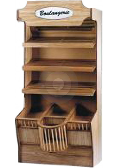 wooden bakery display units