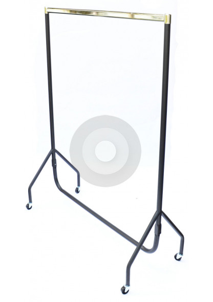 chrome top garment rail