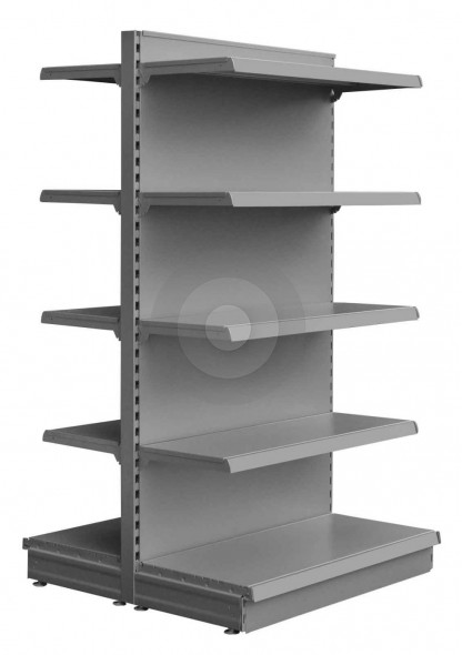 silver gondola shelving for supermarkets