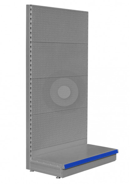 silver wall pegboard unit