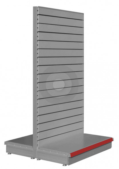 silver slatwall shelving for shops