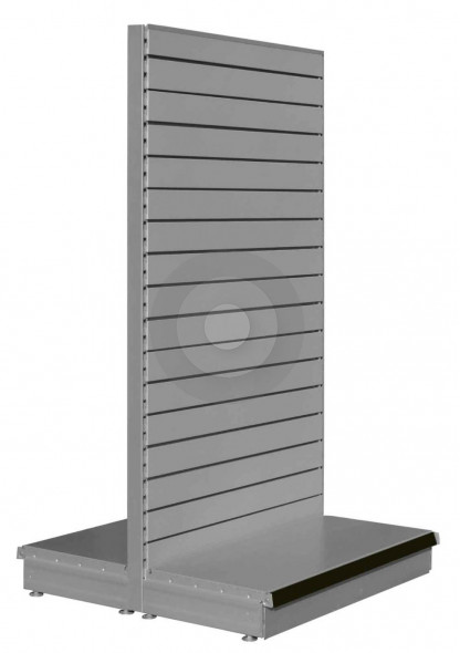 RAL9006 gondola shelving for slatwall accessories