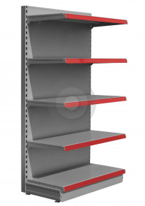 Maximum Display Wall Shelving - Silver (RAL9006)