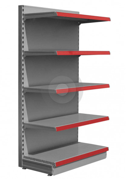 Silver maximum display wall store shelving