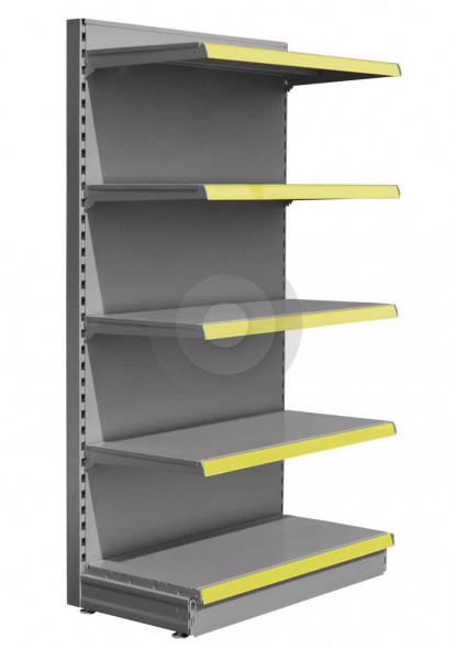 SWSF Silver maximum display wall shelving