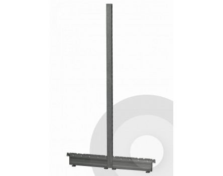 Gondola Shelving End of Run legs Silver (RAL9006)