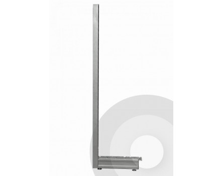 Wall Shelving End of Run legs Silver (RAL9006)
