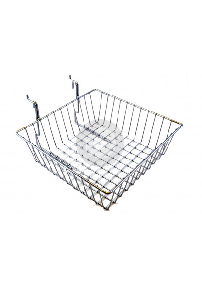 slatwall wire basket