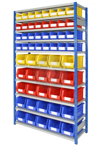 wall plastic storage bin racking