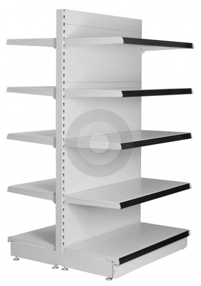Maximum Display Gondola Shelving with Black Epos