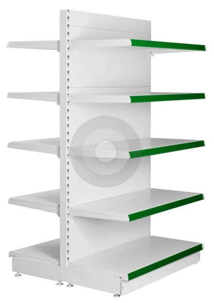 Maximum Display Gondola Shelving all shelves same size