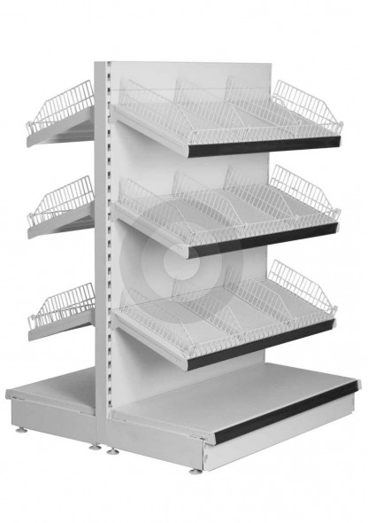gondola shelving with shelf  wire risers and dividers
