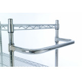 Trolley handle for chrome wire shelving