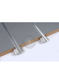 slatwall board with aluminium inserts
