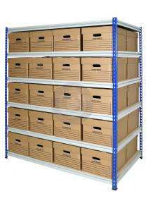 z rivet racking with archive storage boxes