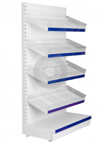 shelving with plastic risers and dividers