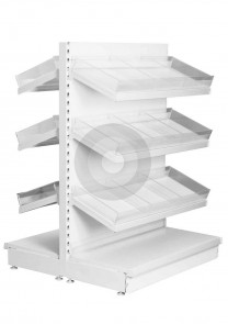 Gondola Shelving with Plastic Risers and Dividers (Base + 3)