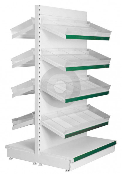 shop shelving with shelf risers and dividers