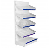 wall shelving with plastic risers and dividers