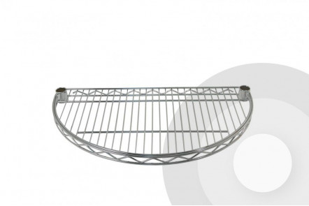 Chrome Wire Half Moon Shelf