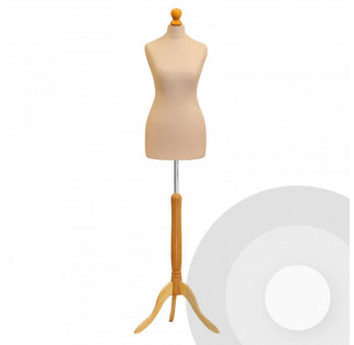 Female Tailors Dummy - Cream