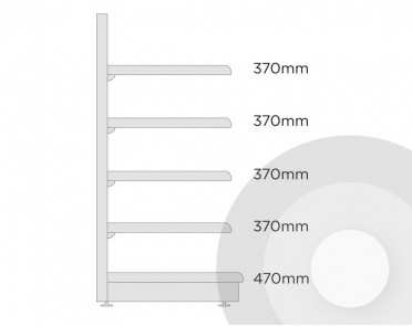 Medium wall shelving diagram