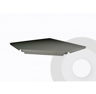 Additional Internal Corner Shelf 90 Degrees Silver (RAL9006)