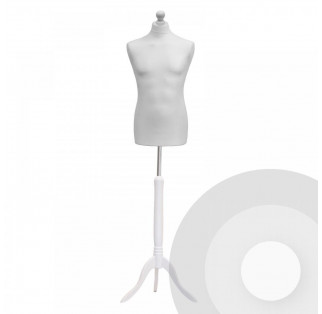 Male Tailors Dummy - White