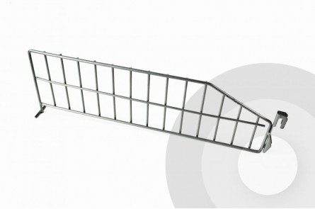 Wire Shelving Divider Silver (RAL9006)