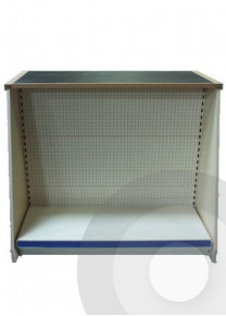 Pegboard shop counter modular