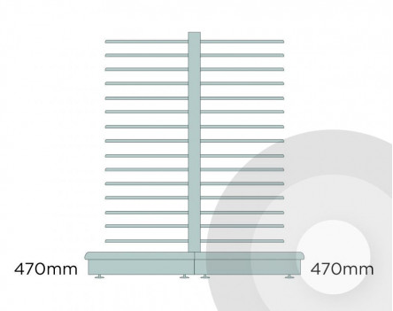 Medium Gondola Slatwall Unit Silver (RAL9006)