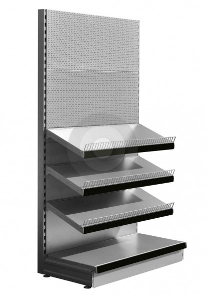 RAL9006 Silver stationery shelving unit