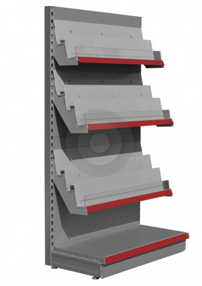 SWSF retail magazine shelving unit in RAL9006
