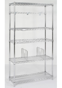 chrome wire retail shelving