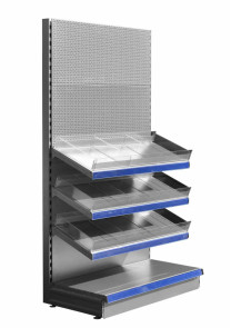 silver specialist shop shelving unit