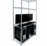 Electrostatic discharge chrome wire shelving