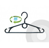 Childs Plastic Clothes Hanger 360° Swivel Hook 32cm (pack of 100)