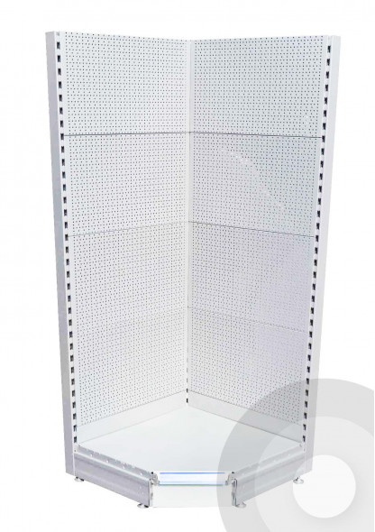 pegboard internal corner shelving