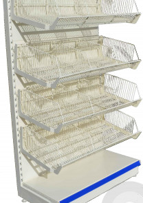Wire Basket Shelving Units