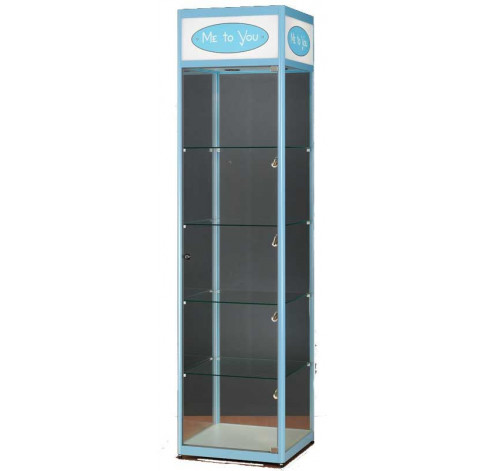 Branded Logo Header Display Cabinets