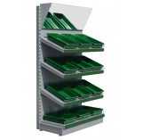 silver fruit and veg shelving