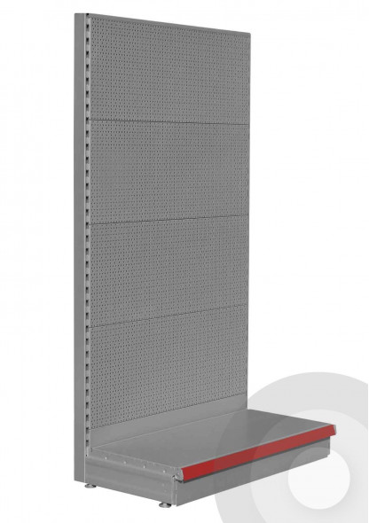 silver 50 pitch pegboard shelving