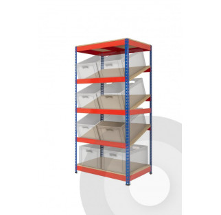 KanBan Shelving Racks With Bins