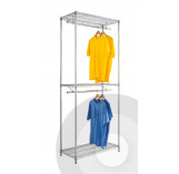 Chrome Double Garment Rack