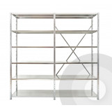 Expo 3 Galvanised Shelving Open  Extension Bays
